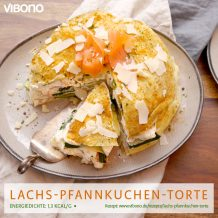 Lachs-Pfannkuchen-Torte