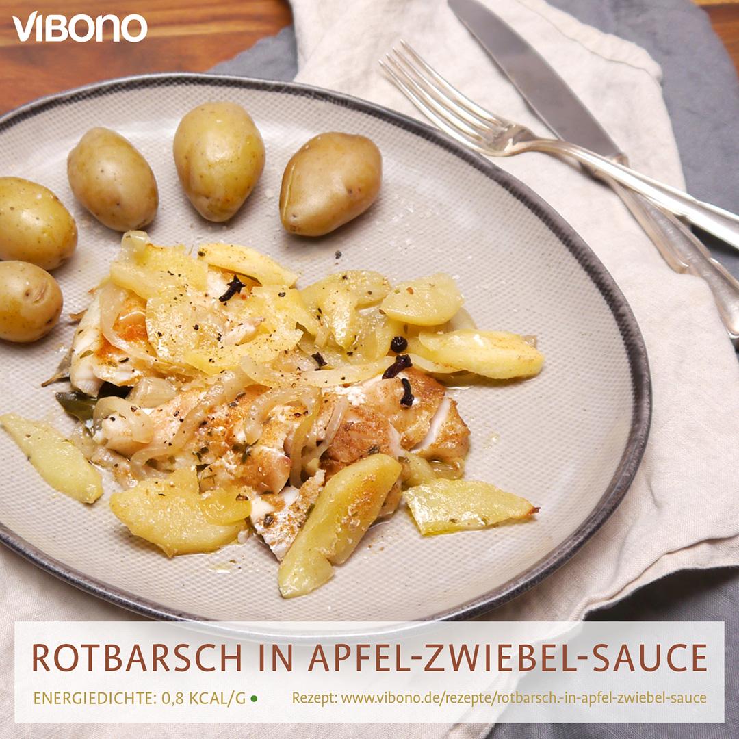 Rotbarsch in Apfel-Zwiebel-Sauce