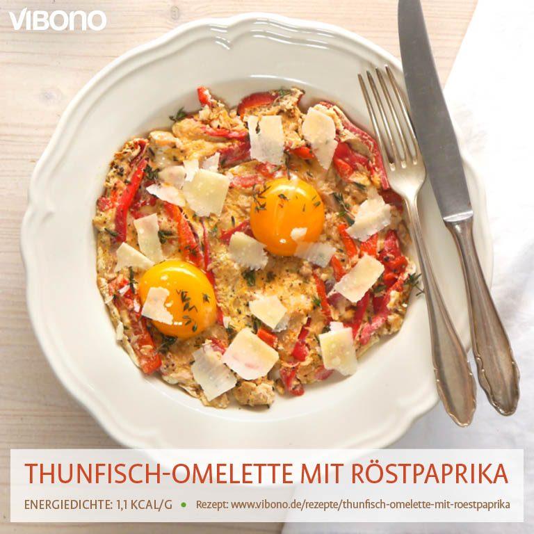 Thunfisch-Omelette mit Röstpaprika