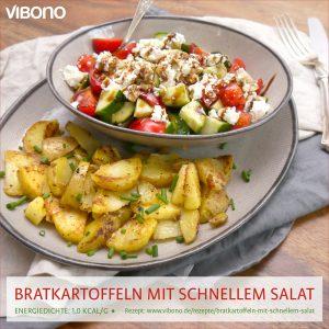 Bratkartoffeln mit schnellem Salat