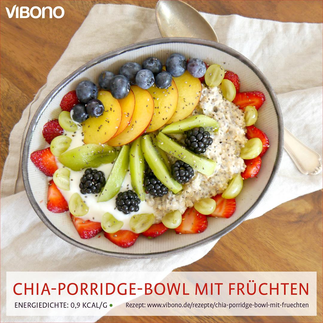 Chia-Porridge-Bowl mit Früchten