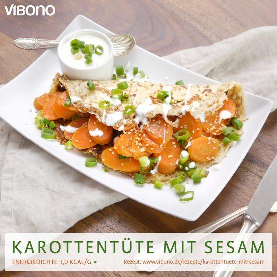Karottentüte mit Sesam