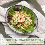 Quinoa-Feta-Bowl mit Garnelen
