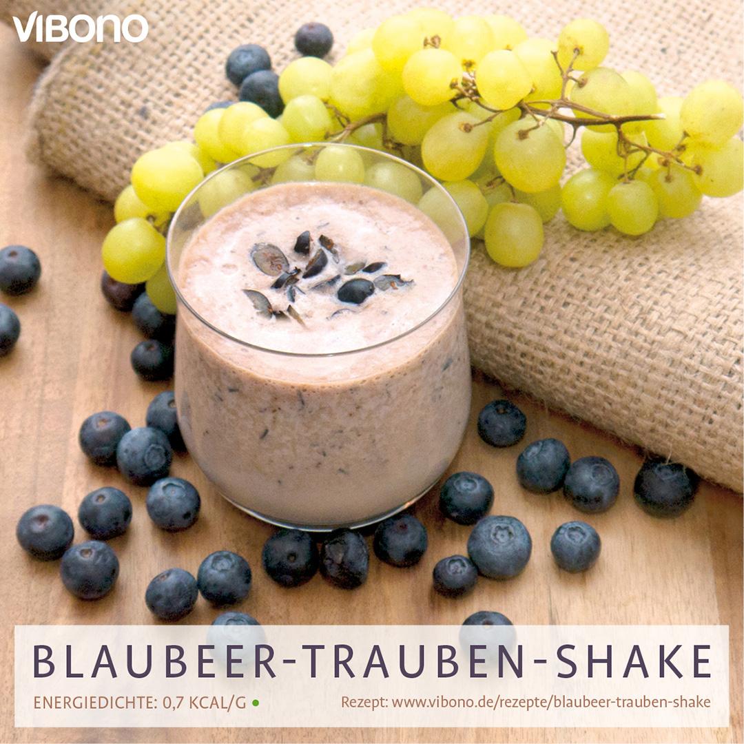 Blaubeer-Trauben-Shake