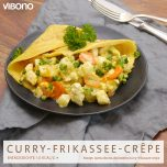 Curry-Frikassee-Crêpe