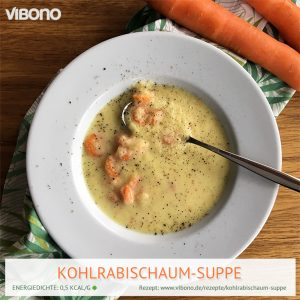 Kohlrabischaum-Suppe