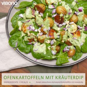 Ofenkartoffeln mit Kräuterdip
