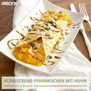 Kürbiscreme-Pfannkuchen mit Huhn