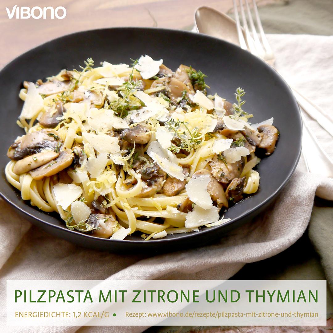 Pilz-Pasta mit Zitrone und Thymian