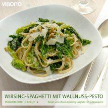 Wirsing-Spaghetti mit Walnuss-Pesto