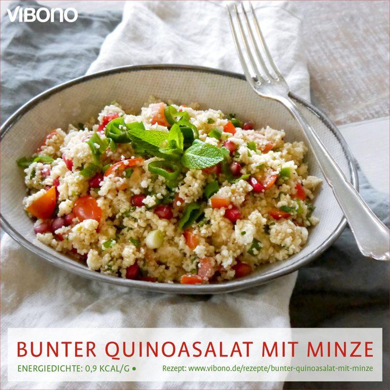 Bunter Quinoasalat mit Minze