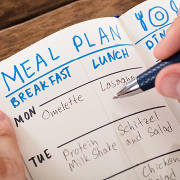 Mit Ernährungsplan