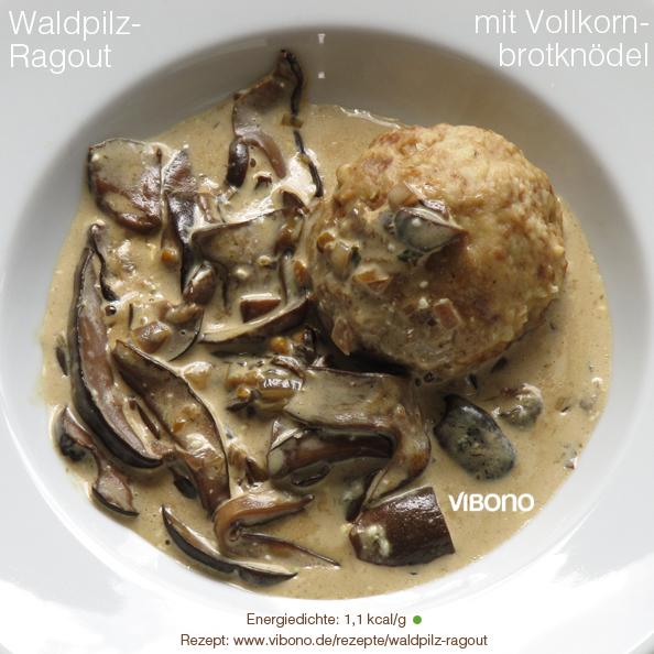 Waldpilz-Ragout mit Vollkornbrotknödel