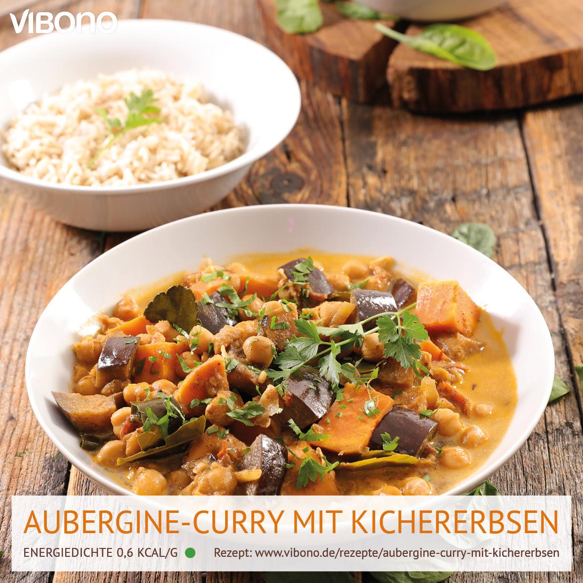 Aubergine-Curry mit Kichererbsen