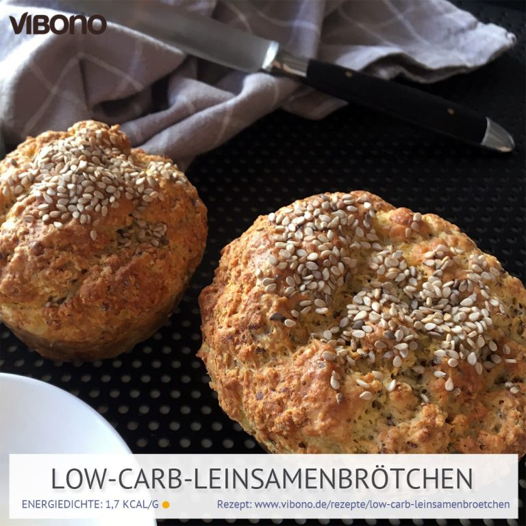 Low-Carb-Leinsamenbrötchen