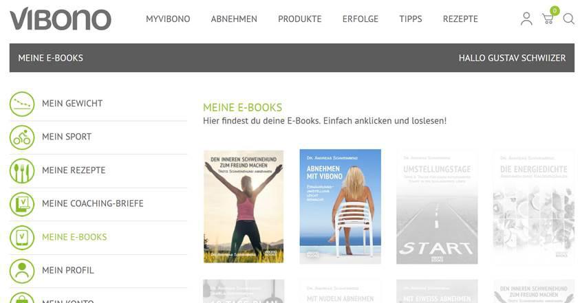 Gekaufte E-Books in MyVibono lesen