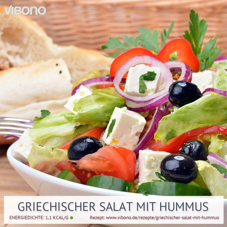 Griechischer Salat mit Hummus
