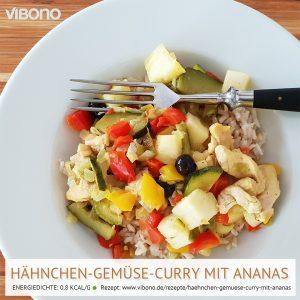 Hähnchen-Gemüse-Curry mit Ananas