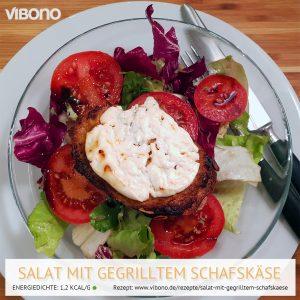 Salat mit gegrilltem Schafskäse