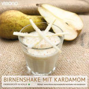 Birnenshake mit Kardamom