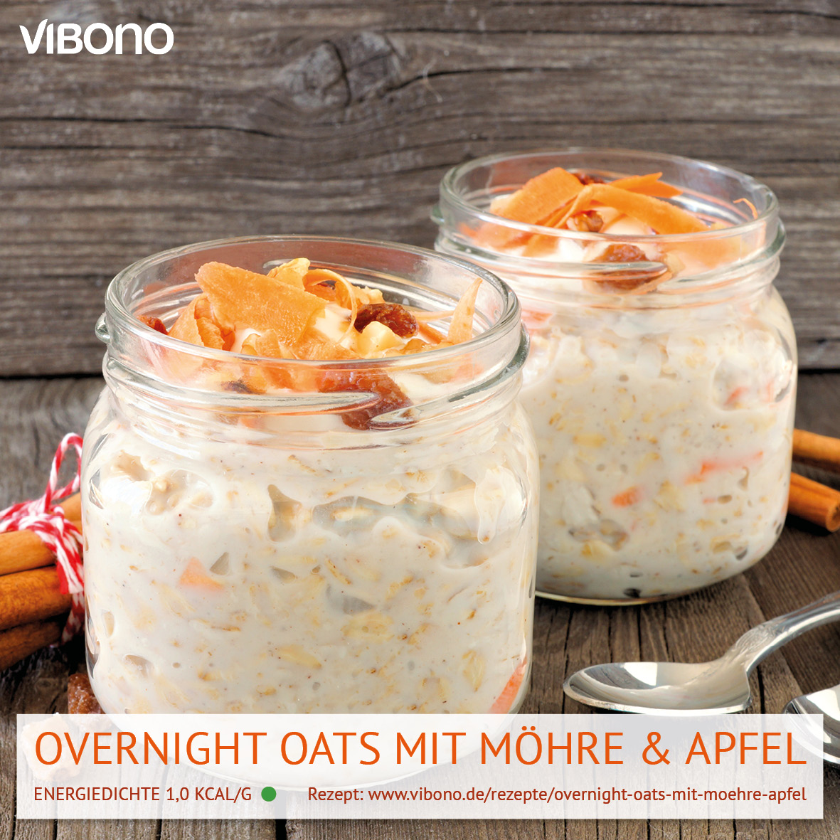 Overnight Oats mit Möhre & Apfel