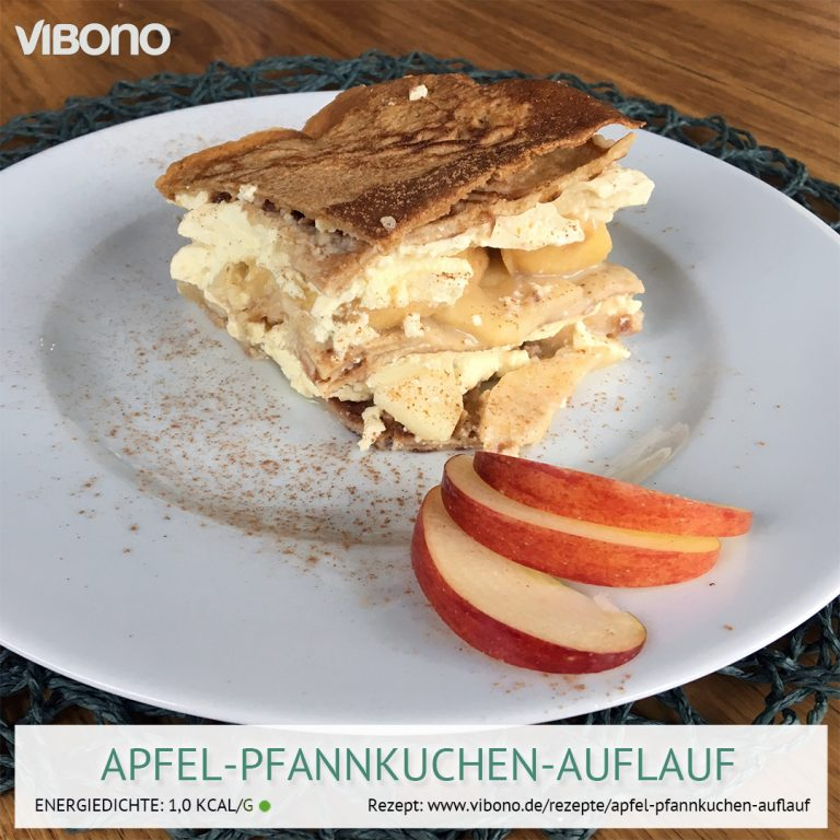 Apfel-Pfannkuchen-Auflauf