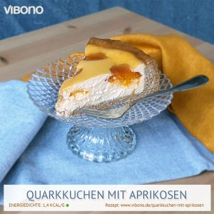 Quarkkuchen mit Aprikosen
