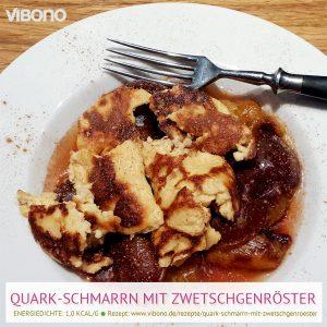 Quark-Schmarrn mit Zwetschgenröster