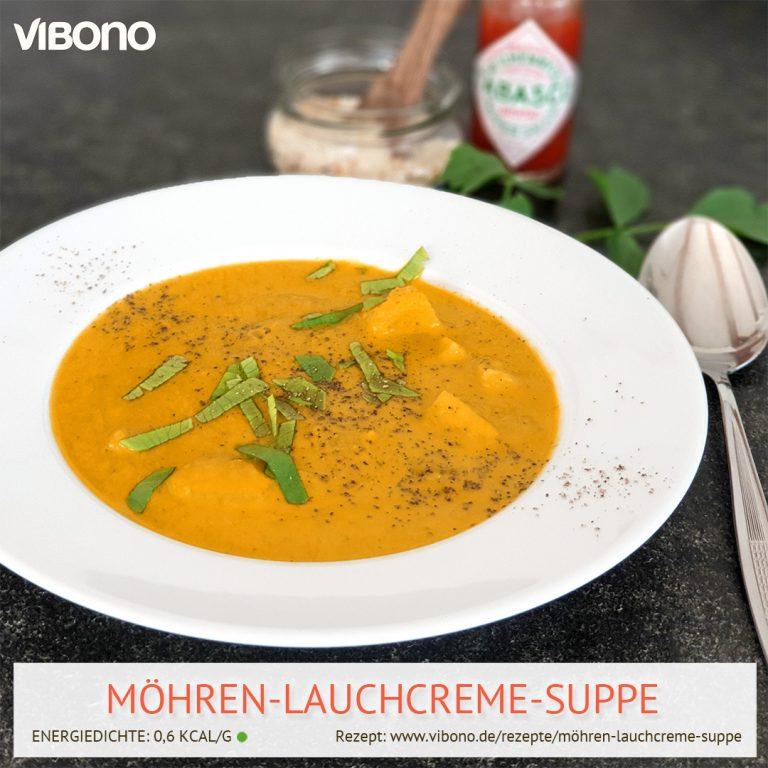 Möhren-Lauchcreme-Suppe