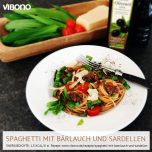 Spaghetti mit Bärlauch und Sardellen