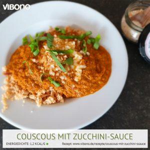 Couscous mit Zucchini-Sauce
