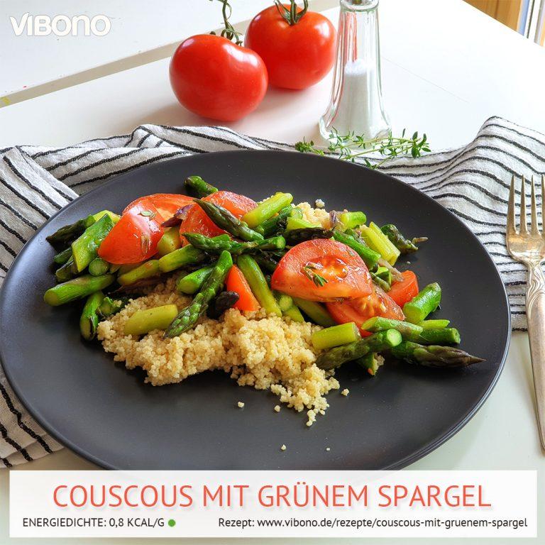 Couscous mit grünem Spargel
