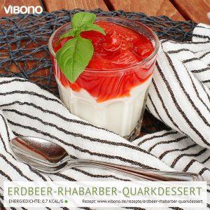 Erdbeer-Rhabarber-Quarkdessert
