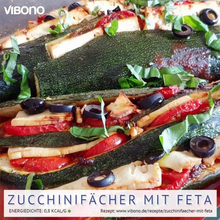 Zucchinifächer mit Feta