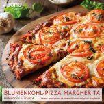 Blumenkohl-Pizza Margherita