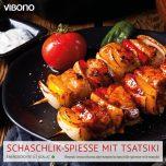 Schaschlik-Spieße mit Tsatsiki