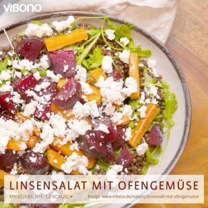 Linsensalat mit Ofengemüse und Feta