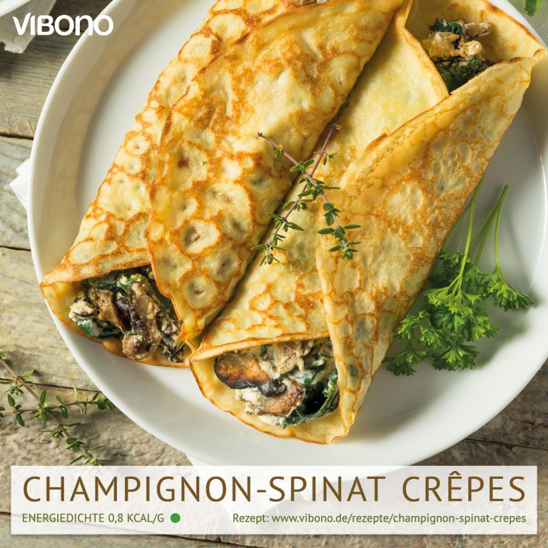 Champignon-Spinat Crêpes