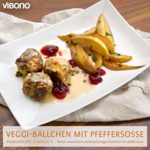 Veggie-Bällchen mit Pfeffersoße