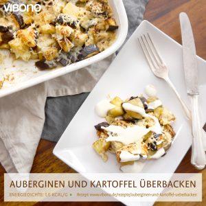 Auberginen und Kartoffeln überbacken