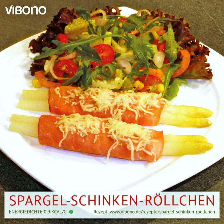 Spargel-Schinken-Röllchen mit Käse