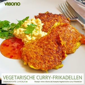 Vegetarische Curry-Frikadellen