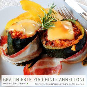 Gratinierte Zucchini-Cannelloni