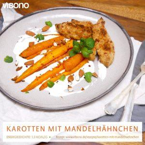 Karotten mit Mandelhähnchen
