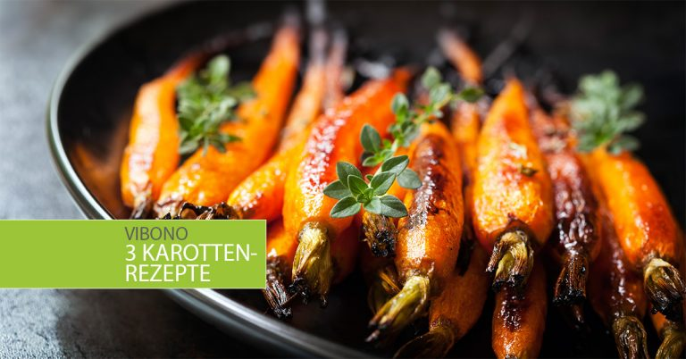 3 Karottenrezepte